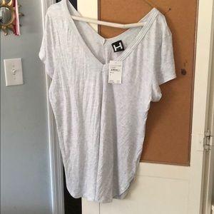 gray tight fit v neck